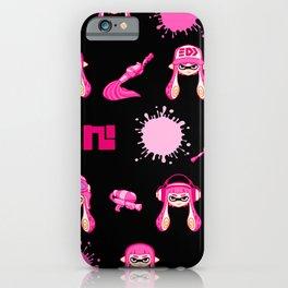 Team Pink Splatoon Pattern iPhone Case