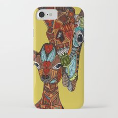 giraffe love ochre Slim Case iPhone 7