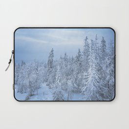 Winter forest in the Mountains Laptop Sleeve