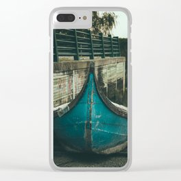Resting boat (color) Clear iPhone Case
