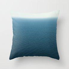 Simply calm sea Throw Pillow