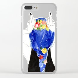 don't give a f**** Clear iPhone Case
