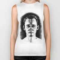 tom hiddleston Biker Tanks featuring Tom Hiddleston by LilKure