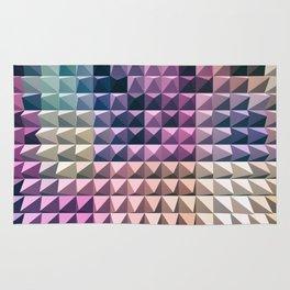 abstract volumetric geometric background with peak Rug