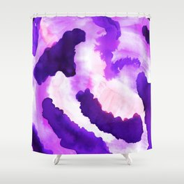 Purple Flow Abstract Watercolor Shower Curtain