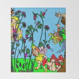 Faerie Garden Throw Blanket
