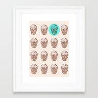 skulls Framed Art Prints featuring skulls  by Ginger Pigg Art & Design