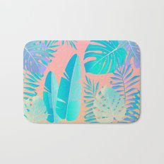 Tropics ( monstera and banana leaf pattern ) Bath Mat