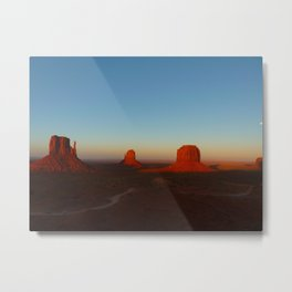 Monument Valley and moon Metal Print