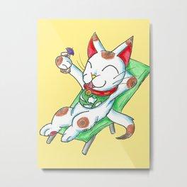 Yasumi o toru Metal Print