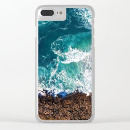 Waves on the Cliffs Clear iPhone Case