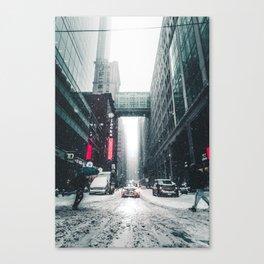 New york under the snow Canvas Print