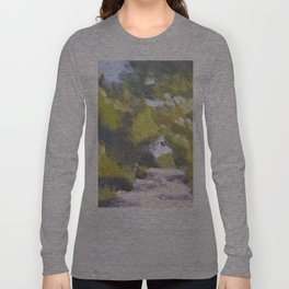 Italian Country Road Painting Long Sleeve T-shirt