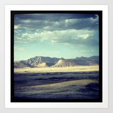Denver to SLC Art Print