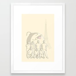 Photobomb Framed Art Print