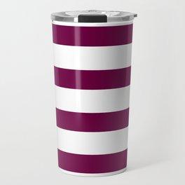 Bordeaux & White Stripes | Digital Design Travel Mug