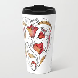 Watercolor heart. Abstract illustration Travel Mug
