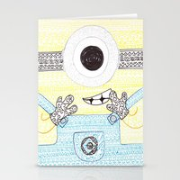 minion Stationery Cards featuring minion by di yirou