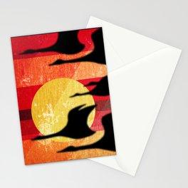 Sunset Migration Stationery Cards