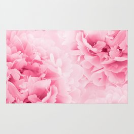 Light Red Peonies Dream #1 #floral #decor #art #society6 Rug