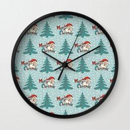 Christmas tree and santa claus SB11 Wall Clock