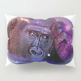 Space Monkey Gorilla Starry Sky As Background Pillow Sham