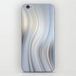 Abstract modern wavy background, elegant wave illustration iPhone Skin