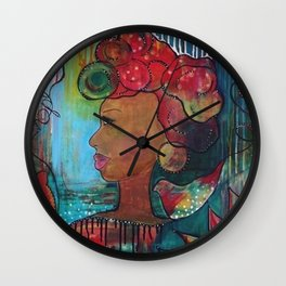 """Hope"" Original Painting by Krista J. Brock Wall Clock"
