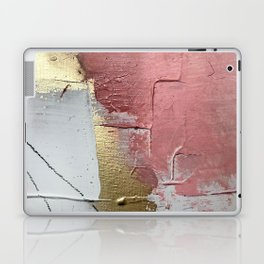 Darling: a minimal, abstract mixed-media piece in pink, white, and gold by Alyssa Hamilton Art Laptop & iPad Skin