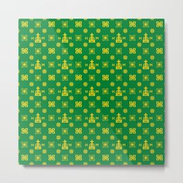 High Quality - Gold and Green Metal Print