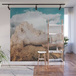 Mountains in Clouds.  Nature Landscape Photography Wall Mural