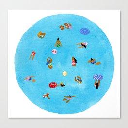 Sirkill swim Canvas Print