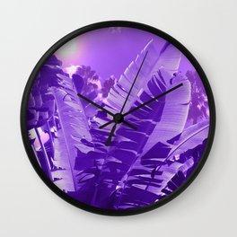 Ultra Violet Tropical Beach Palm Wall Clock