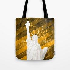Liberty Gold Pop Art Tote Bag