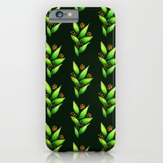 Abstract Watercolor Green Plant With Orange Berries iPhone 6s Slim Case