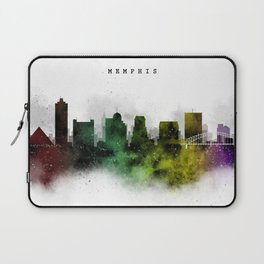 Memphis Watercolor Skyline Laptop Sleeve
