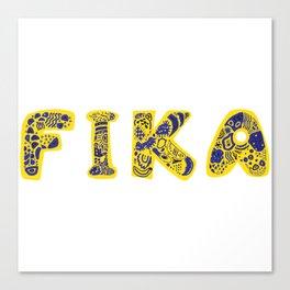 Fika- Folk style Canvas Print