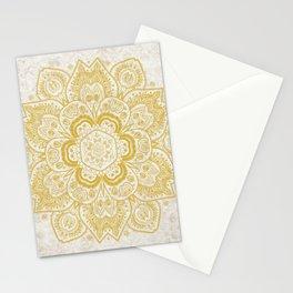Mandala Temptation in Metallic Gold Stationery Cards