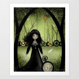 Dark Steampunk Art 'Clockwork Princess' Art Print