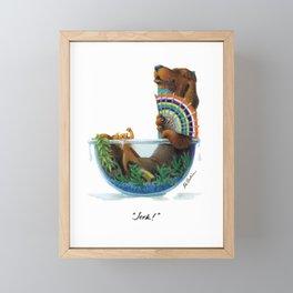 """""""Jerk!"""" Framed Mini Art Print"""