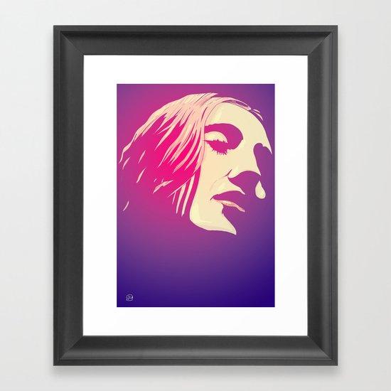 Lady in purple Framed Art Print