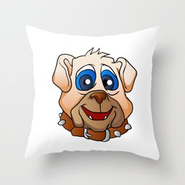 bulldog face. Throw Pillow