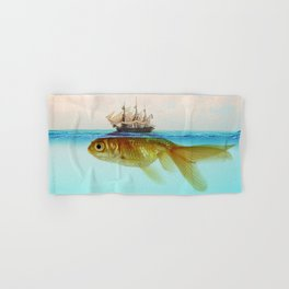 Goldfish Tall Ship Hand & Bath Towel