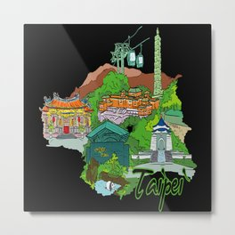 Taipei Taiwan Metal Print
