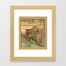 República de Nicaragua Map (1913) Framed Art Print