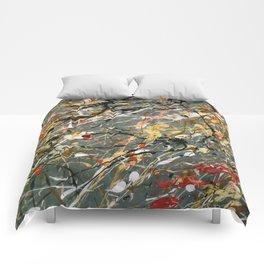 Jackson Pollock Interpretation Acrylics On Canvas Splash Drip Action Painting Comforters
