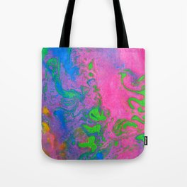 Marbling, Tie Dye Effect Abstract Pattern Tote Bag