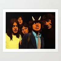 acdc Art Prints featuring ACDC by DeeDoubleU