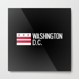 Washington D.C.: Washington D.C. Flag Metal Print