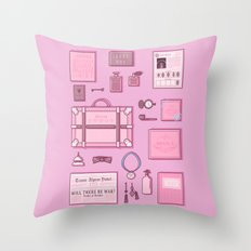 Grand Budapest Items Throw Pillow